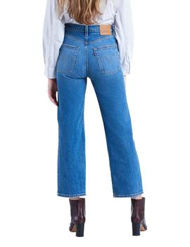 Vaqueros Levi's Ribcage Straight Ankle azul mujer