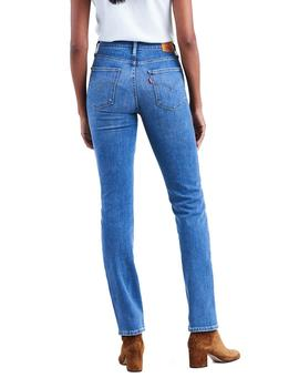 Vaqueros Levi's 724 High Rise Straight azul mujer
