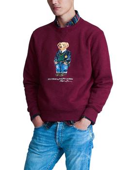 Felpa Ralph Lauren Polo Bear Preppy granate hombre