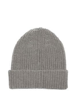 Gorro Tommy Jeans Basic Flag Rib gris hombre