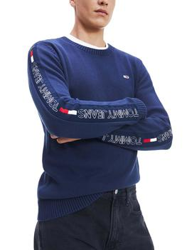 Jersey Tommy Jeans Tape Sweater marino hombre