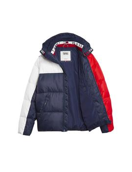 Anorak Tommy Jeans Essential Colorblock marino hombre