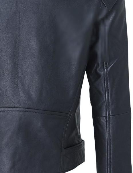 Chaqueta Calvin Klein Leather Biker negro mujer