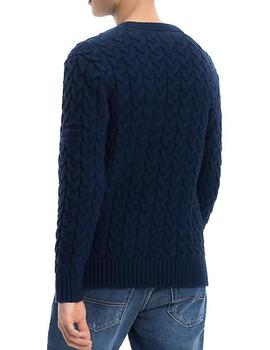 Jersey Tommy Denim Tjm Cable Sweater marino hombre