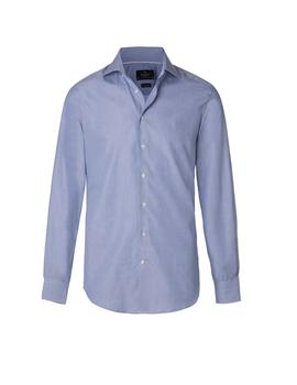 Camisa Hackett End On End BC azul hombre