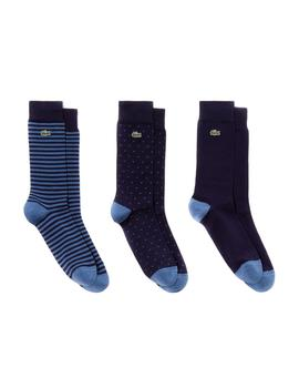 Pack Calcetines Lacoste azul hombre