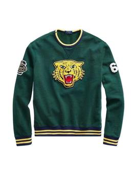 Felpa Polo Ralph Lauren Tiger Patch verde hombre