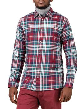 Camisa Tommy Jeans Essential Brushed granate hombre