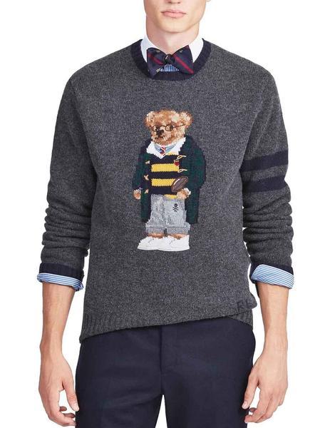 4fbfc36d421 ... Jersey Polo Ralph Lauren College Bear gris hombre. Hombre. Gallery  005803 5. Gallery 005803 1