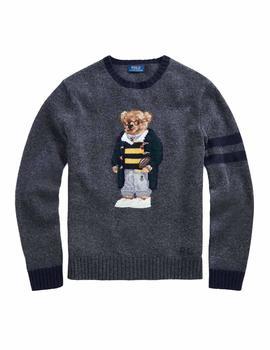 83839ffa716 Jersey Polo Ralph Lauren College Bear gris hombre