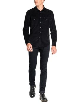 Camisa Lee Clean Western S negro hombre