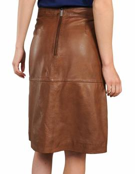 Falda Summum Woman Lamb Leather marrón mujer