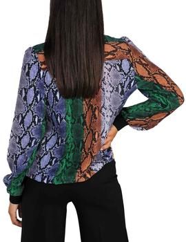 Blusa Summum Woman Snake Print multicolor mujer