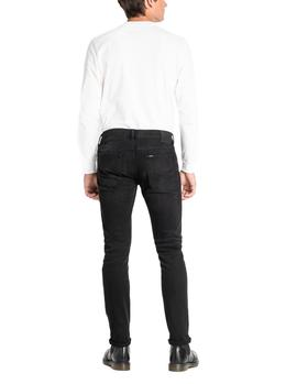 Vaqueros Lee Luke Slim Tapered negro hombre
