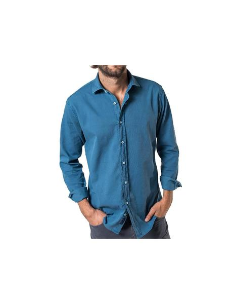 Camisa Patch HK azul