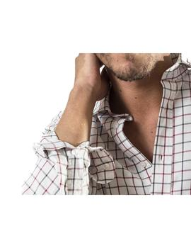 Camisa Patch. Modelo 102526. Color blanco