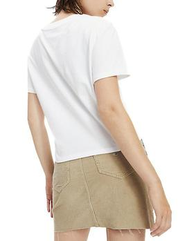 Camiseta Tommy Jeans Multicolor Logo blanco mujer