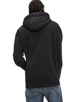 Felpa Tommy Jeans Reflective Flag Hoodie negro hombre
