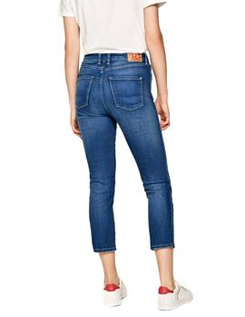 Vaqueros Pepe Jeans Dion 7/8 azul mujer