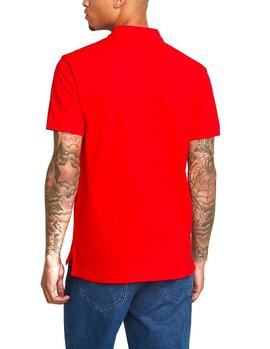 Polo Tommy Jeans Classics Solid Stretch rojo hombre