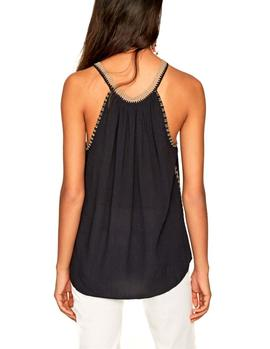 Top Pepe Jeans Alice negro mujer