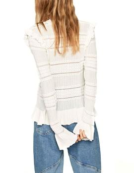 Jersey Pepe Jeans Olivia blanco mujer