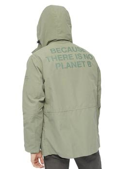 Impermeable ECOALF Junabee Print verde hombre