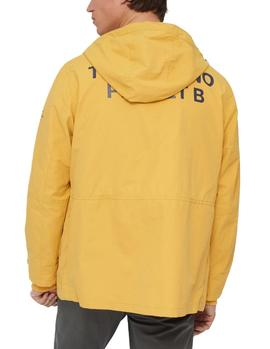 Impermeable Ecoalf Junabee Print amarillo hombre