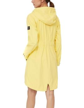 Impermeable Ecoalf Picton amarillo mujer