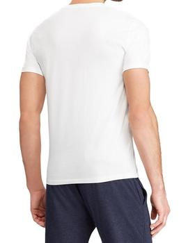 Camiseta Ralph Lauren Custom Slim Fit blanco hombre