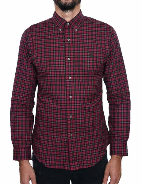 bf67b42fc0 Camisa Polo Ralph Lauren Cuadros rojo verde