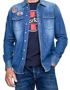 Camisa Norton Grip Denim azul