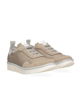 Zapatillas Panchic Low Cut Nylon Suede arena mujer