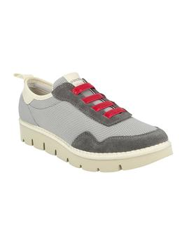 Zapatillas Panchic Low Cut Nylon Suede gris mujer