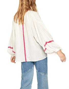 Blusa Pepe Jeans Derry crudo mujer