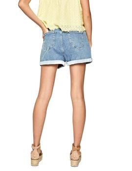 Shorts Pepe Jeans Bazile azul mujer