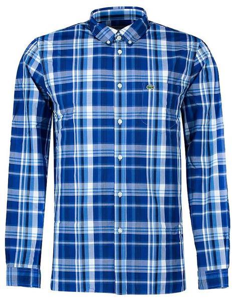 5a7d80fc30ee0 ... Camisa Cuadros Lacoste CH1576 azul hombre. Hombre. Gallery 005256 3.  Gallery 005256 1
