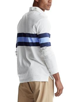Polo Ralph Lauren Classic Fit Striped Rugby blanco hombre
