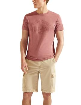 Camiseta HKT by Hackett South Coast burdeos hombre