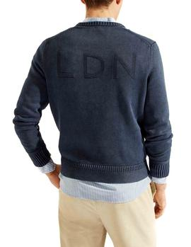 Felpa HKT by Hackett London Logo marino hombre