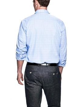 Camisa Hackett Prince of Wales Engineered azul