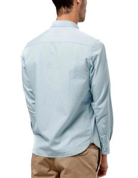 Camisa Edmmond Pocket Denim Bleach azul hombre