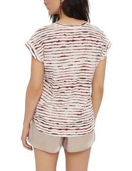 Camiseta Ecoalf Harbour Sailor granate mujer