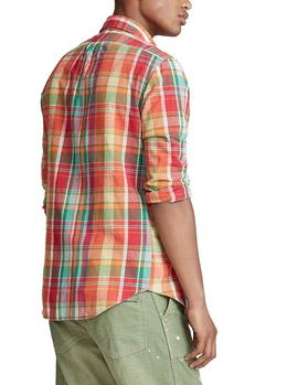 Camisa Ralph Lauren Madras Custom Fit multicolor hombre