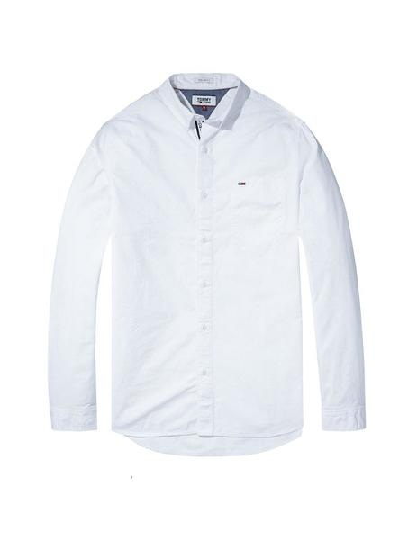 Camisa Tommy Denim Tjm Tape Detail blanca hombre