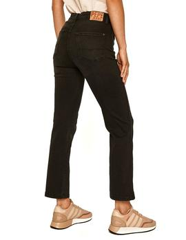 Vaqueros Pepe Jeans Dion 7/8 negro mujer