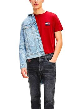 Camiseta Tommy Jeans Badge rojo hombre