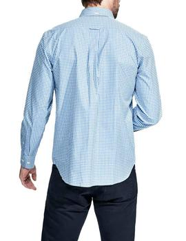 Camisa Façonnable Essential SPW Club Vichy azul
