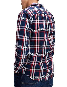 Camisa Tommy Jeans Branded Flannel multicolor hombre