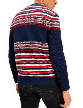 Jersey Tommy Jeans Structure Mix marino hombre